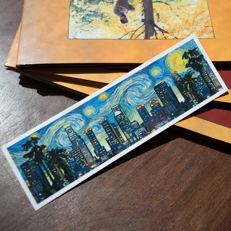 Los Angeles Van Gogh Skyline Bookmark