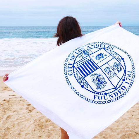 Beach Towel with LA City Seal