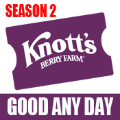 Knott's Berry Farm eTicket - Season 2