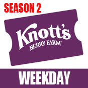 Knott's WEEKDAY eTicket -Season 2