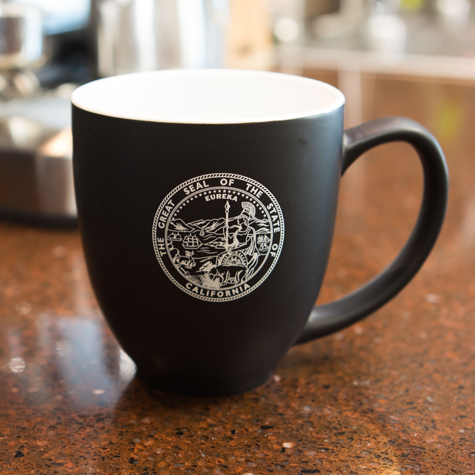 Bistro Mug w/State of California Seal