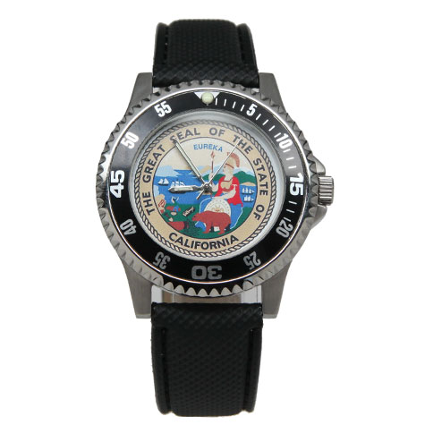 State Seal Watch-Leather