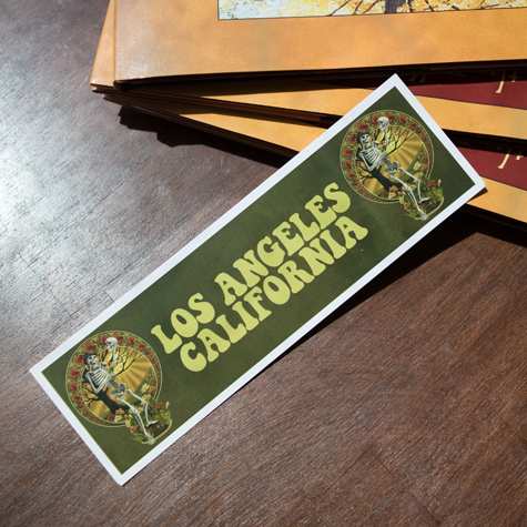 Los Angeles Skeleton Bookmark