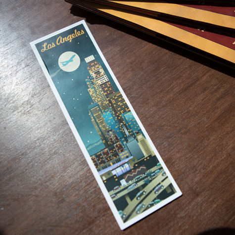 Los Angeles Retro Skyline Bookmark