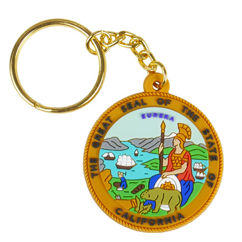 State of California Textured Key Chain