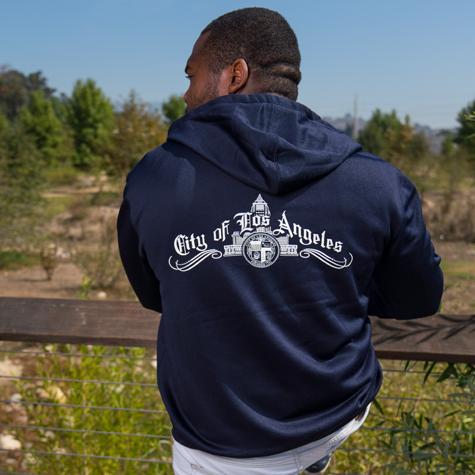 City Classic Zip Up Hooded Sweatshirt