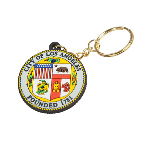 LA City Seal Textured Key Chain
