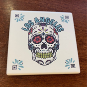 Los Angeles Day of the Dead Coaster Set