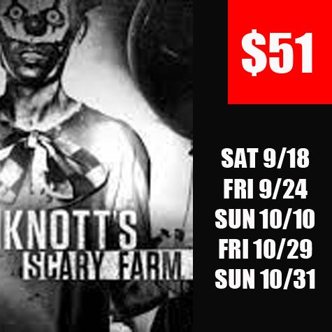 $51 Knotts Haunt eTicket