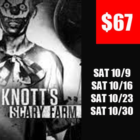 $67 Knotts Haunt eTicket