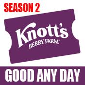 Knott's Berry Farm eTicket - Season 2