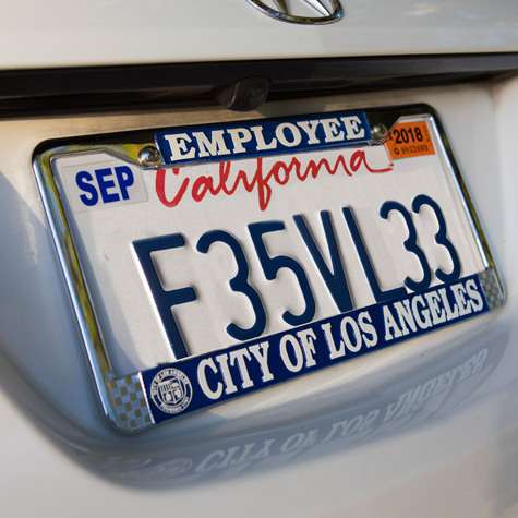 License Plate Frame - LA City Employee