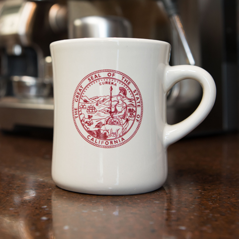 Diner Mug w/State of CA Seal