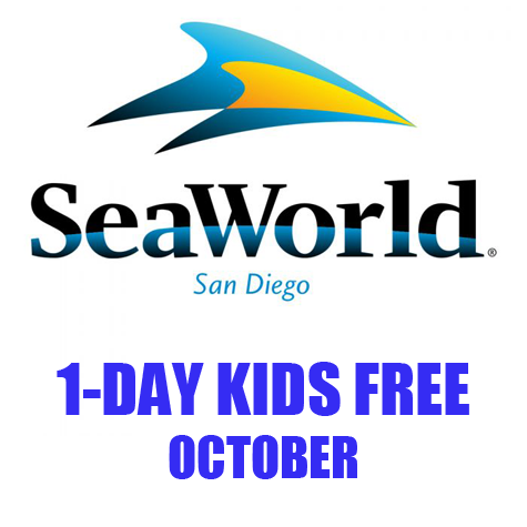 SeaWorld 1 Day Kids FREE eTicket