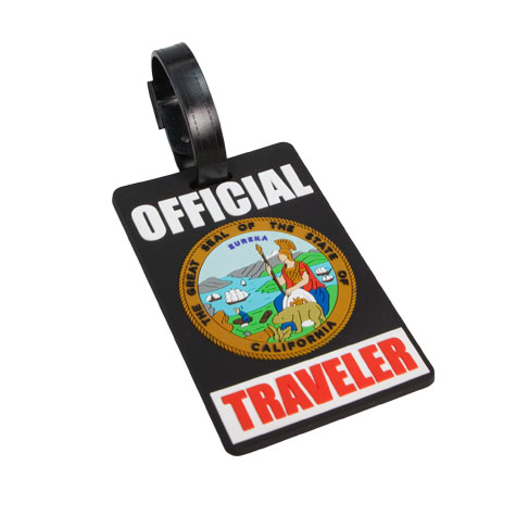 State of California Luggage Tag