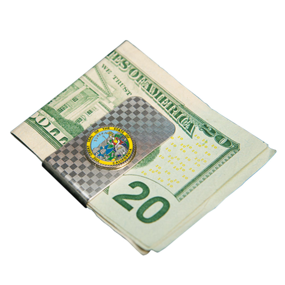 State of CA Seal Money Clip
